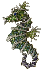 H082059 Sadko Sea Horse Brooch